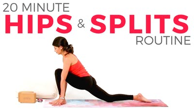 Instant Access to 20 minute Hips & Splits Routine by Sarah Beth Yoga, powered by Intelivideo