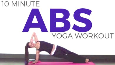 10 minute Power Yoga Workout|Beach Bod Abs by Sarah Beth Yoga