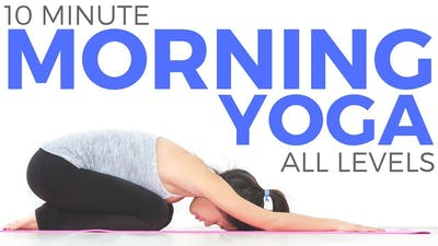 Instant Access to 10 minute Simple Morning Yoga Flow (All Levels!) by Sarah Beth Yoga, powered by Intelivideo