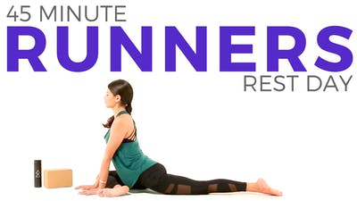 Instant Access to 45 minute Yoga for Runners Class by Sarah Beth Yoga, powered by Intelivideo