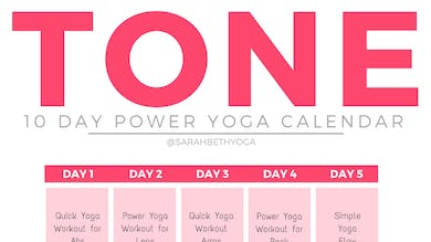 TONE Yoga Program - Calendar & Guides by Sarah Beth Yoga