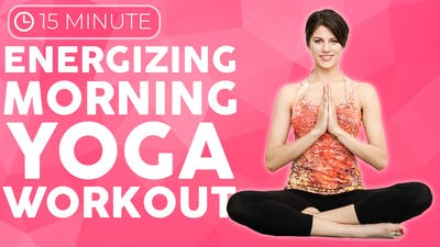 Instant Access to 15 min Energizing Morning Yoga Burn by Sarah Beth Yoga, powered by Intelivideo