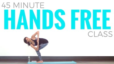 Instant Access to 45 minute Hands Free Vinyasa Yoga Class by Sarah Beth Yoga, powered by Intelivideo