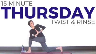 Thursday - Twist & Rinse Vinyasa Yoga Routine by Sarah Beth Yoga