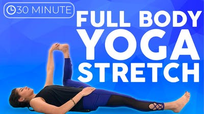 Instant Access to 30 minute Full Body Yoga Stretch Practice by Sarah Beth Yoga, powered by Intelivideo