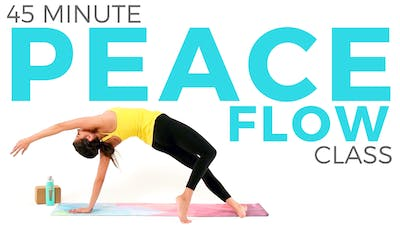 Instant Access to 45 minute Peace Flow - Vinyasa Yoga Class by Sarah Beth Yoga, powered by Intelivideo