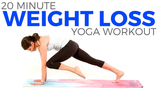 Instant Access to 20 minute Yoga for WEIGHT LOSS by Sarah Beth Yoga, powered by Intelivideo