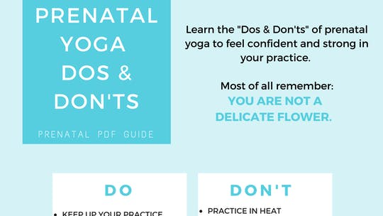 Instant Access to Prenatal Program - Dos & Don'ts by Sarah Beth Yoga, powered by Intelivideo