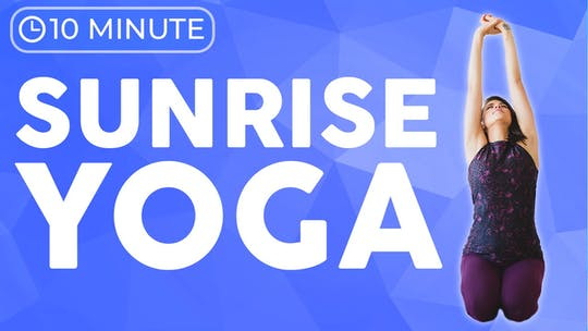 Instant Access to Morning Yoga Stretch (10 minute Yoga) SUNRISE YOGA by Sarah Beth Yoga, powered by Intelivideo