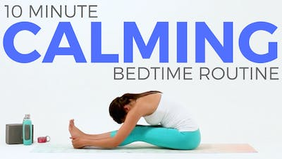 Instant Access to 10 minute Calming Bedtime Yoga Routine by Sarah Beth Yoga, powered by Intelivideo