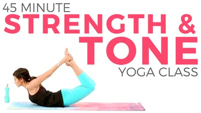 Instant Access to 45 min Strength & Tone - Power Yoga Class by Sarah Beth Yoga, powered by Intelivideo