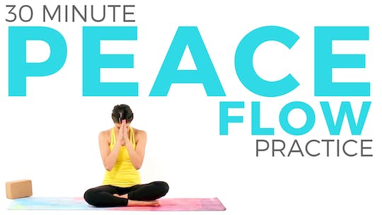Instant Access to 30 minute Peace Flow Practice by Sarah Beth Yoga, powered by Intelivideo