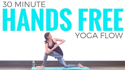 Instant Access to 30 minute Hands Free Yoga Practice by Sarah Beth Yoga, powered by Intelivideo