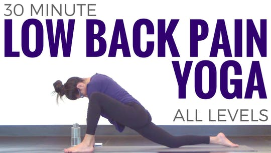 Instant Access to 30 minute Yoga for Low Back Pain by Sarah Beth Yoga, powered by Intelivideo