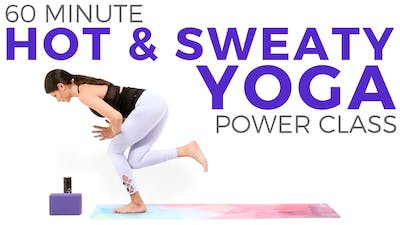Instant Access to 60 minute Hot & Sweaty Power Yoga Class by Sarah Beth Yoga, powered by Intelivideo