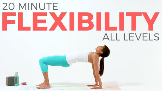 Instant Access to 20 minute Yoga for Flexibility - All Levels by Sarah Beth Yoga, powered by Intelivideo