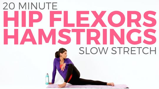 Instant Access to 20 minute Slow Stretch Hip Flexors & Hamstrings by Sarah Beth Yoga, powered by Intelivideo