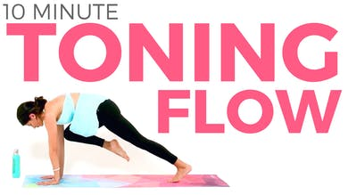 Morning Yoga for Weight Loss & TONING | Basic Power Yoga Flow (10 minutes) by Sarah Beth Yoga