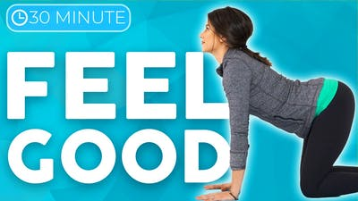 30 minute Full Body Yoga Flow & Stretch 💙 FEEL GOOD with Intention by Sarah Beth Yoga