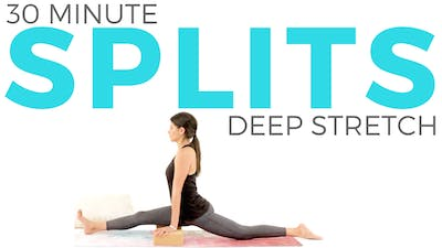 Instant Access to 30 minute Deep Stretch Yoga for Splits Routine by Sarah Beth Yoga, powered by Intelivideo