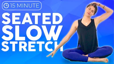 Instant Access to 15 minute Slow Yoga Stretches | Seated Yoga for Anxiety, Tension & Headaches by Sarah Beth Yoga, powered by Intelivideo