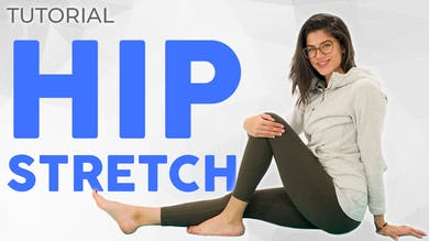 Hip Stretch Tutorial (without Figure 4 or Half Pigeon) by Sarah Beth Yoga