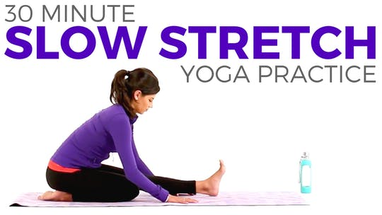 Instant Access to 30 minute Slow Stretch Practice by Sarah Beth Yoga, powered by Intelivideo