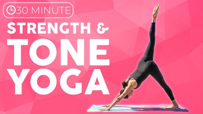 Instant Access to 30 minute Full Body Yoga Workout | Strength & Tone by Sarah Beth Yoga, powered by Intelivideo