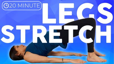 Instant Access to 20 minute Bedtime Yoga Stretch IN BED | Legs & Hips by Sarah Beth Yoga, powered by Intelivideo