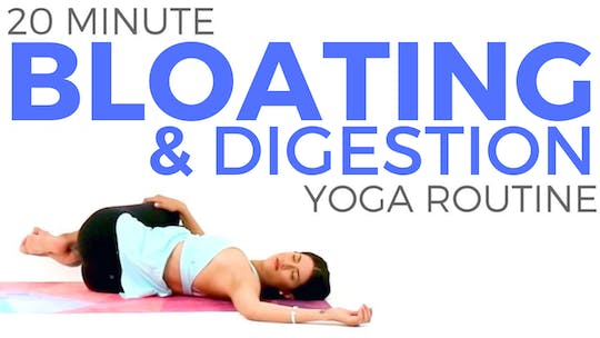 Instant Access to 20 minute Detox Yoga for Bloating & Digestion by Sarah Beth Yoga, powered by Intelivideo