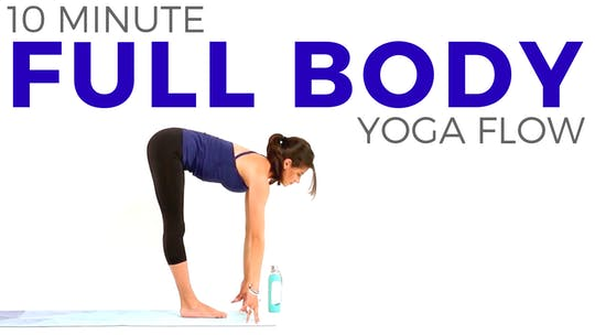 Instant Access to 10 minute Full Body Yoga Flow by Sarah Beth Yoga, powered by Intelivideo