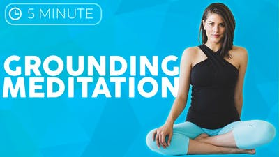 5 minute Grounding Seated Meditation by Sarah Beth Yoga