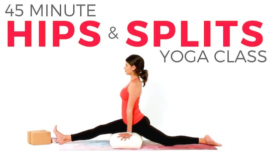 Instant Access to 45 minute Hips & Splits Class by Sarah Beth Yoga, powered by Intelivideo