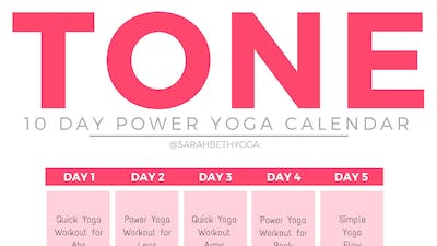 Instant Access to TONE Calendar & Guides by Sarah Beth Yoga, powered by Intelivideo