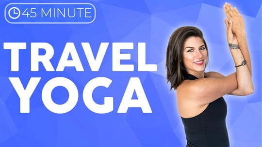 Instant Access to 45 minute Post Travel Yoga Class by Sarah Beth Yoga, powered by Intelivideo
