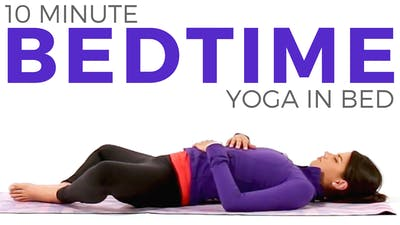 Instant Access to 10 minute Bedtime Yoga In Bed (All Levels!) by Sarah Beth Yoga, powered by Intelivideo