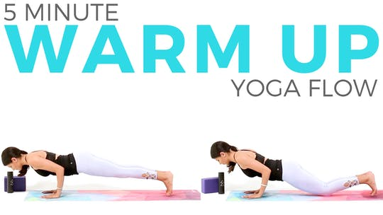 Instant Access to 5 minute Warm Up Flow by Sarah Beth Yoga, powered by Intelivideo