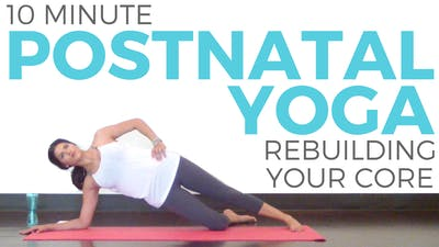 Instant Access to Postnatal Yoga Workout for rebuilding Core Strength by Sarah Beth Yoga, powered by Intelivideo