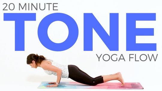 Instant Access to 20 minute Tone Yoga Flow by Sarah Beth Yoga, powered by Intelivideo