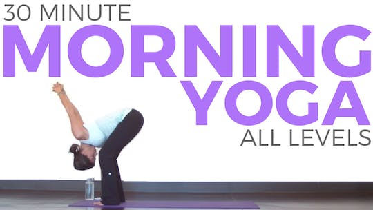 Instant Access to 30 Minute Mindful Morning Yoga by Sarah Beth Yoga, powered by Intelivideo