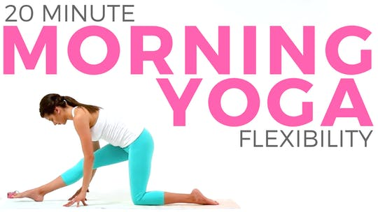 Instant Access to 20 Minute Morning Yoga for Flexibility - Full Body Stretching Routine by Sarah Beth Yoga, powered by Intelivideo