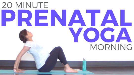 Instant Access to 20 minute Prenatal Morning Yoga Flow & Stretch by Sarah Beth Yoga, powered by Intelivideo