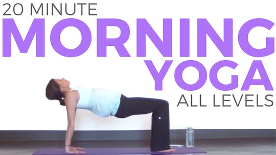 Instant Access to 20 Minute Mindful Morning Yoga Practice by Sarah Beth Yoga, powered by Intelivideo