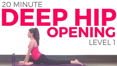 Instant Access to Deep Hip Opening Yoga Level 1 by Sarah Beth Yoga, powered by Intelivideo