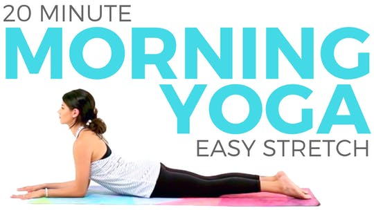 Instant Access to 20 minute Easy Morning Yoga | Yoga for Posture & Positivity by Sarah Beth Yoga, powered by Intelivideo