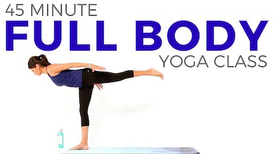 Instant Access to 45 minute Full Body Yoga Class by Sarah Beth Yoga, powered by Intelivideo
