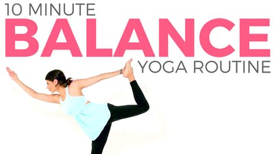 Instant Access to 10 minute Simple Balance Routine by Sarah Beth Yoga, powered by Intelivideo