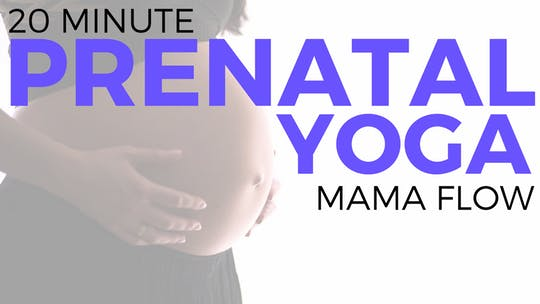 Instant Access to 20 minute Prenatal Mama Flow Routine by Sarah Beth Yoga, powered by Intelivideo