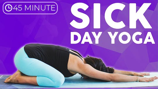 Instant Access to 45 Minute Sick Day Yoga Class by Sarah Beth Yoga, powered by Intelivideo