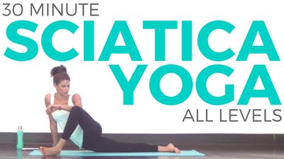 Instant Access to 30 Minute Yoga for Sciatica by Sarah Beth Yoga, powered by Intelivideo